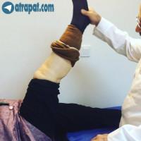 بيمار خانم ٦٥ ساله ،حدود يك ماه بعد از عمل تعويض مفصل زانو
